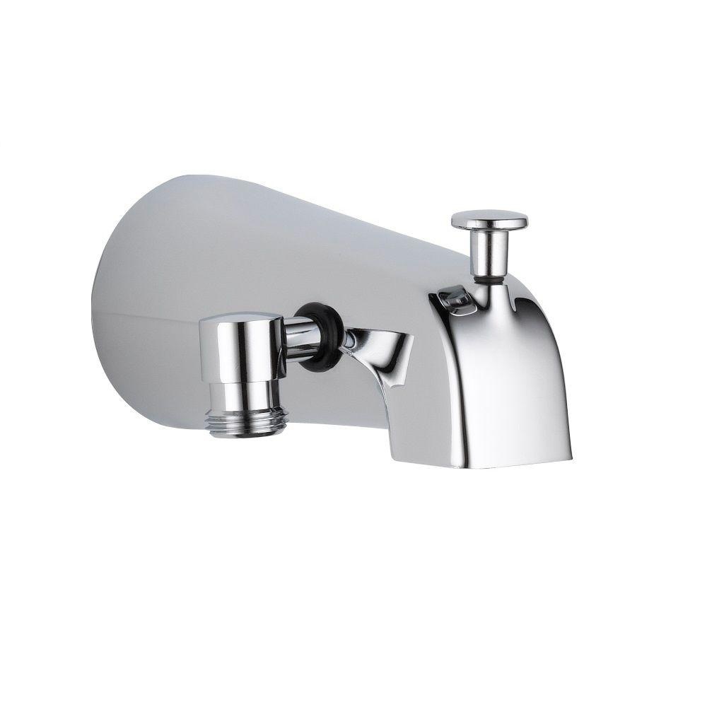 Delta 5.38 in. Long Pull-Up Diverter Tub Spout in Chrome-U1072-PK ...