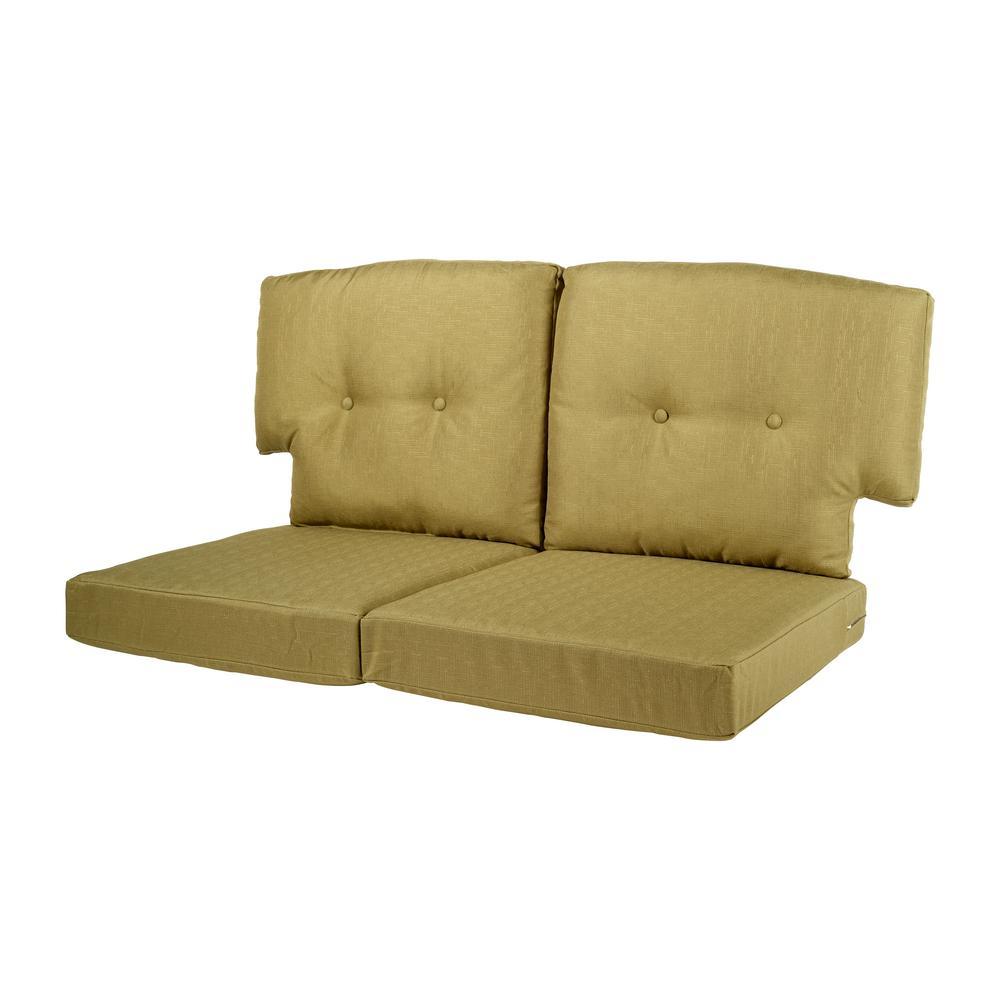Hampton Bay Green Bean Replacement Cushion For The Martha Stewart