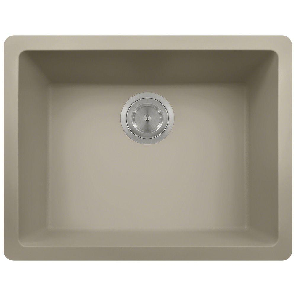 Undermount Composite 22 in. Single Bowl Kitchen Sink in S...