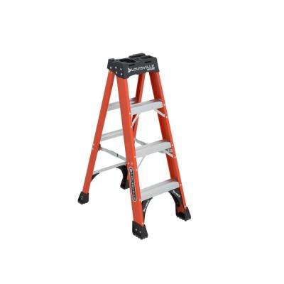 4 ft. Fiberglass Step Ladder with 375 lbs. Load Capacity Type IAA Duty Rating