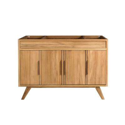 Taylor 48 in. W x 21 in. D Bath Vanity Cabinet Only in Natural Teak