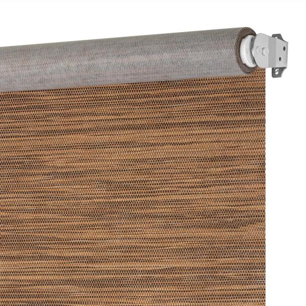 Achim Privacy Cocoa Cordless Light Filtering Woven Poly Jute Roller Shade 47 In W X 72 In L Cps476co01 The Home Depot
