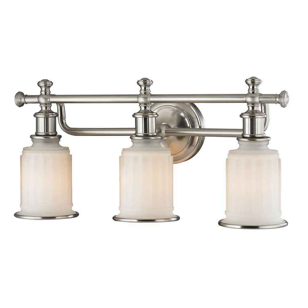 Kildare 3-Light Brushed Nickel Bath Light