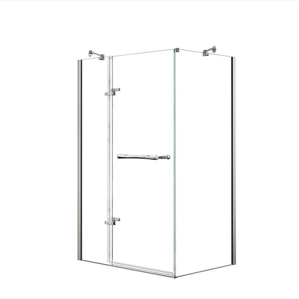 MAAX Reveal 48 in. x 71.5 in. Frameless Corner Pivot Shower ...