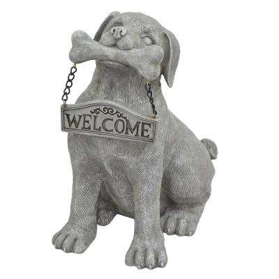 Abstract Dog Welcome Sign
