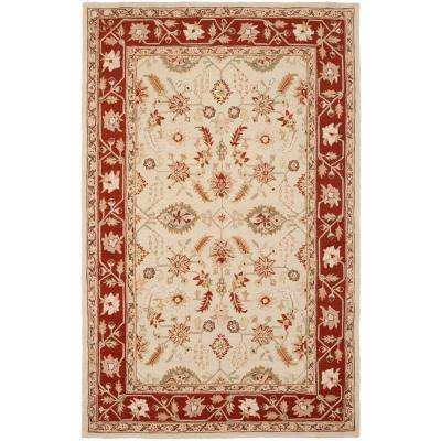 Chelsea Ivory/Rust 7 ft. 9 in. x 9 ft. 9 in. Area Rug