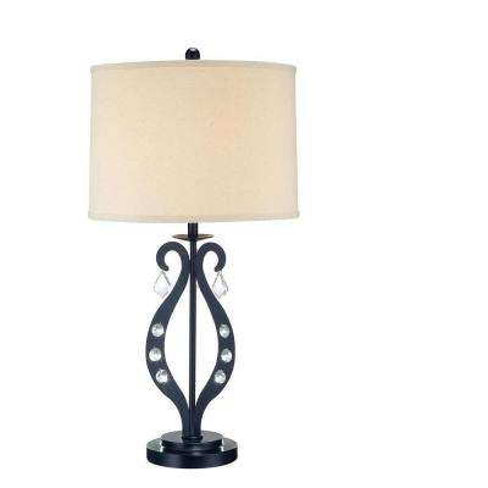 29.25 in. 1-Light Black Table Lamp