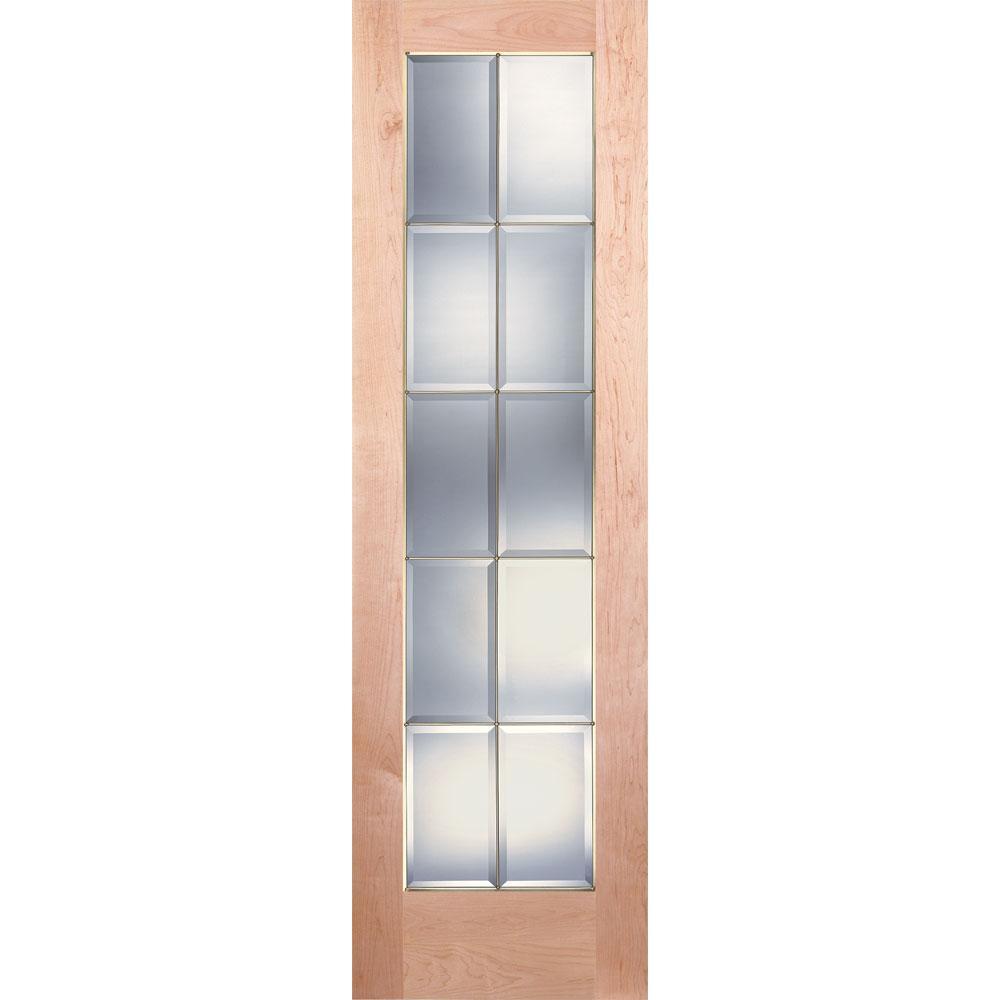 Bevel door 15x12mm wedge bevel wooden softwood pine bead for 10 panel glass interior door