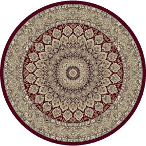 Dynamic Rugs Ancient Garden Red 7 ft. 10 inch Round Area Rug by Dynamic Rugs