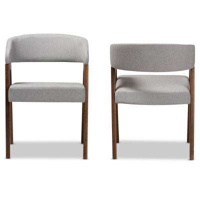 Tory Light Grey Fabric Dining Chair (Set of 2)