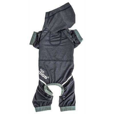 Small Black Namastail Breathable Full Body Performance Yoga Dog Hoodie Tracksuit