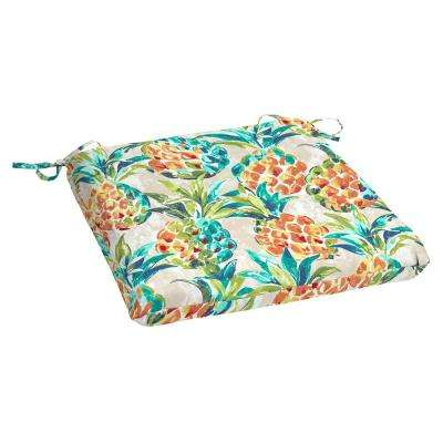 Pineapples Rectangle Outdoor Seat Cushion