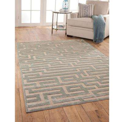 Napa Maze Light Blue 7 ft. 10 in. x 11 ft. 2 in. Area Rug