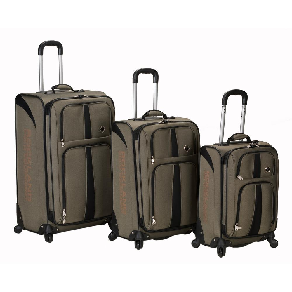 Rockland 3-Piece Eclipse Spinner Luggage Set, Green