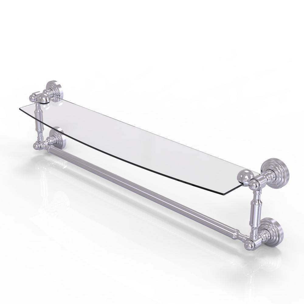 Allied Brass Waverly Place Collection 24 in. Glass Vanity Shelf with ...