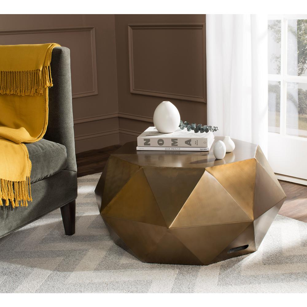 Safavieh Astrid Copper Coffee Table-FOX3223A
