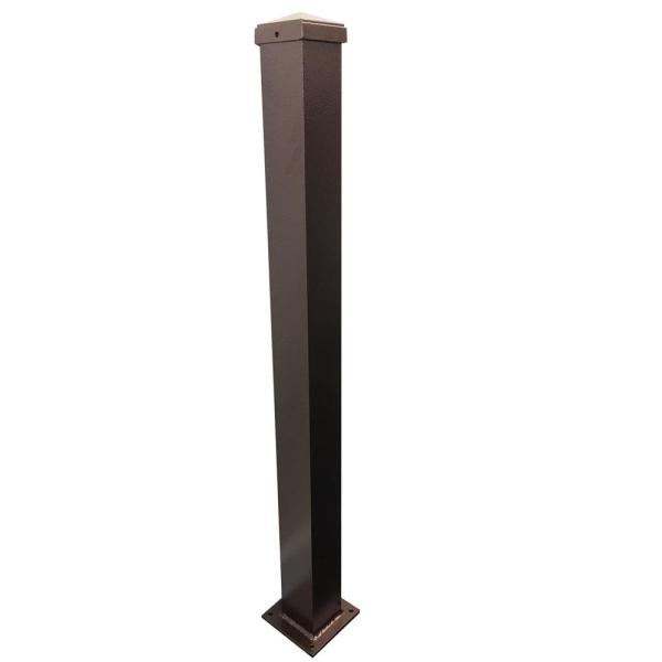 3 in. x 3 in. x 38 in. Copper Vein Aluminum Post with Welded Base