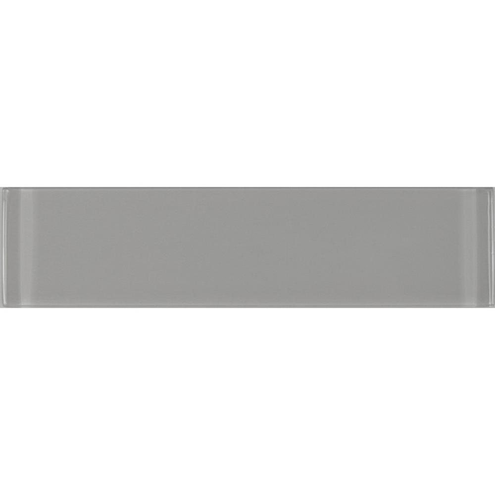 Metro 3 in. x 12 in. Pebble Gray Glass Peel and