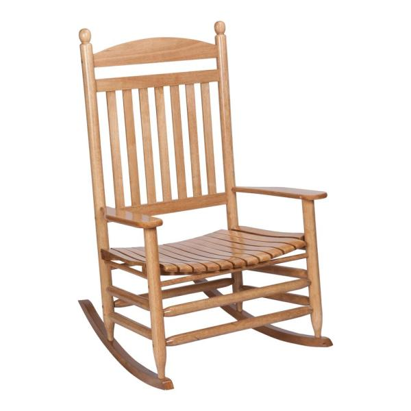 Bradley Maple Jumbo Slat Wood Outdoor Patio Rocking Chair