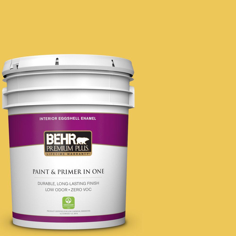 5 gal. #390B-6 Citrus Zest Zero VOC Eggshell Enamel Interior Paint