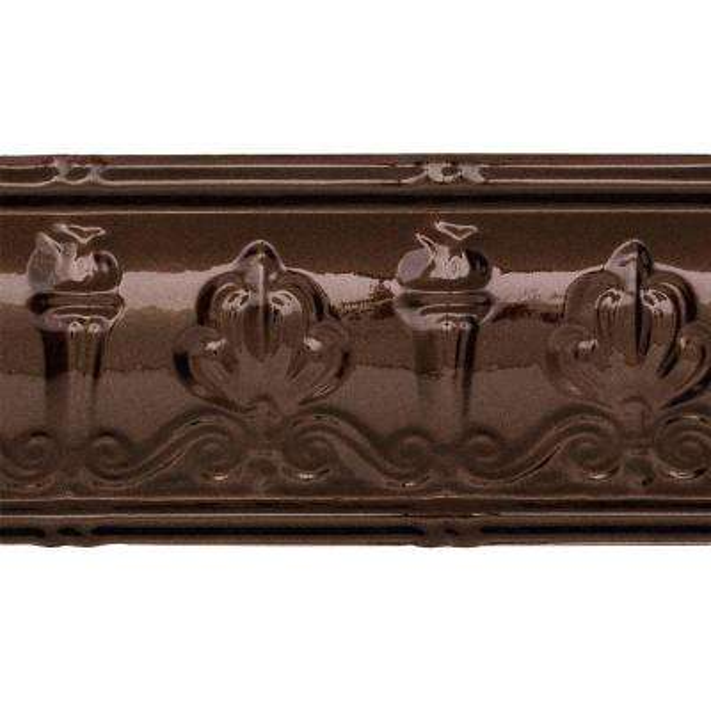48 in. Superior Tin Crown Molding in Bronze Burst