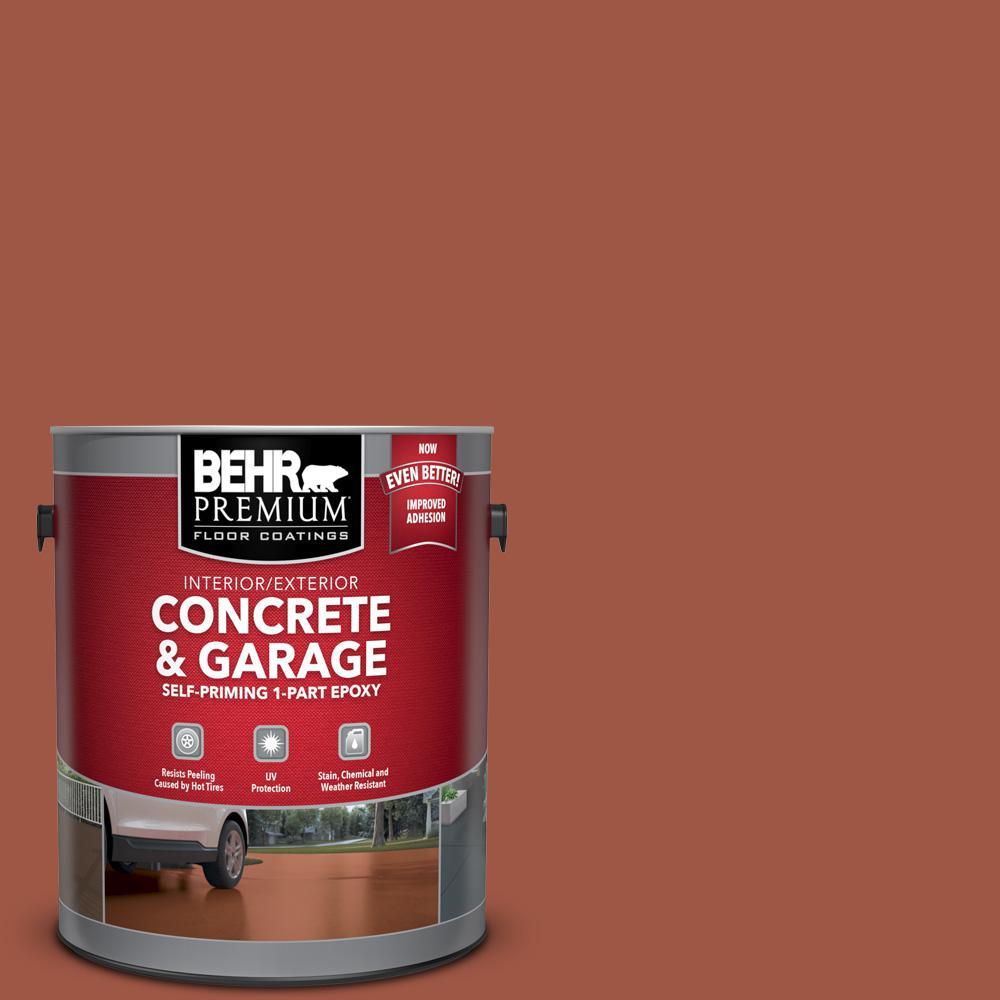 BEHR Premium 1 gal. #PFC-15 Santa Fe Self-Priming 1-Part Epoxy Satin Interior/Exterior Concrete and Garage Floor Paint
