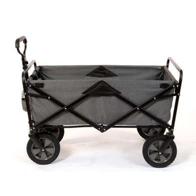 Collapsible Folding Steel Frame Outdoor Garden Camping Wagon, Gray