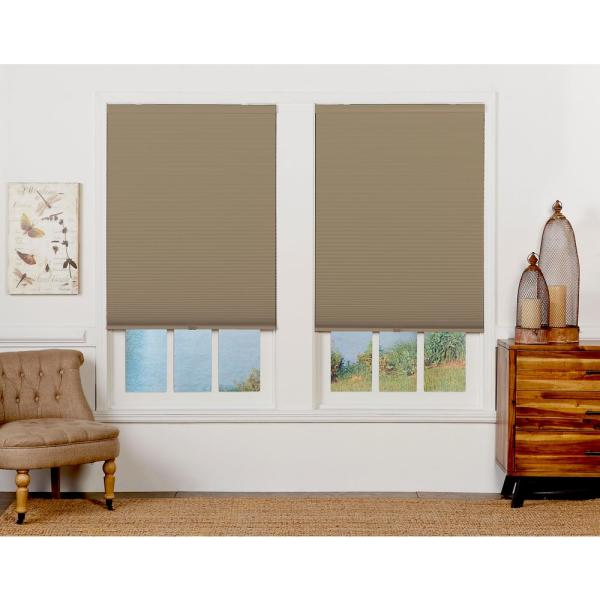 Perfect Lift Window Treatment Cut To Width Sand 1 5in Blackout Cordless Cellular Shade 56in W X 72in L Actual Size 56in W X 72in L Qesnwt560720 The Home Depot