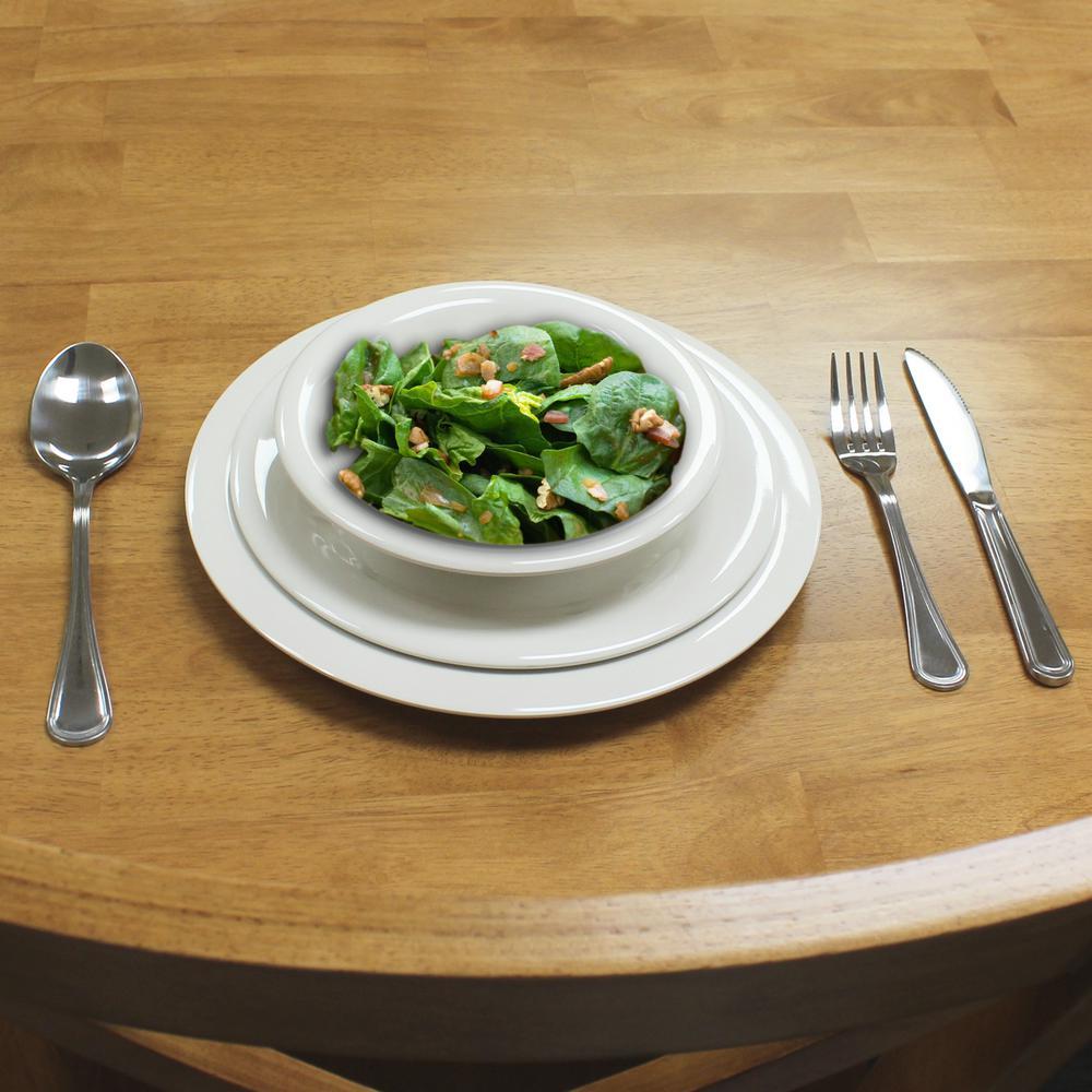 Restaurant Essentials Ivory Dinnerware Set (12 Piece) & Restaurant Essentials Ivory Dinnerware Set (12 Piece)-RA016 - The ...