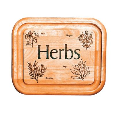 7 in. Bar Board With Herb Brand
