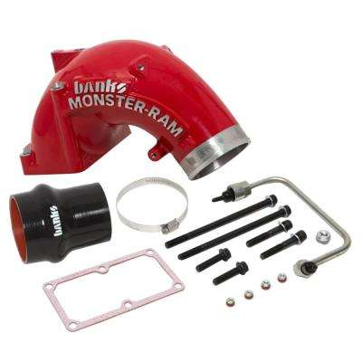 Monster-Ram Intake System with Fuel Line for 2007.5-17 Dodge 6.7 l Cummins, 2500 and 3500 Models