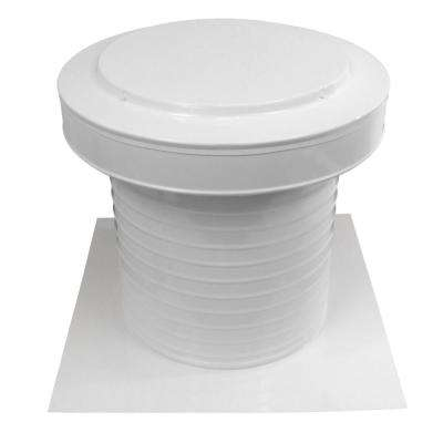 12 in. Dia Aluminum Keepa Static Vent for Flat Roofs in White