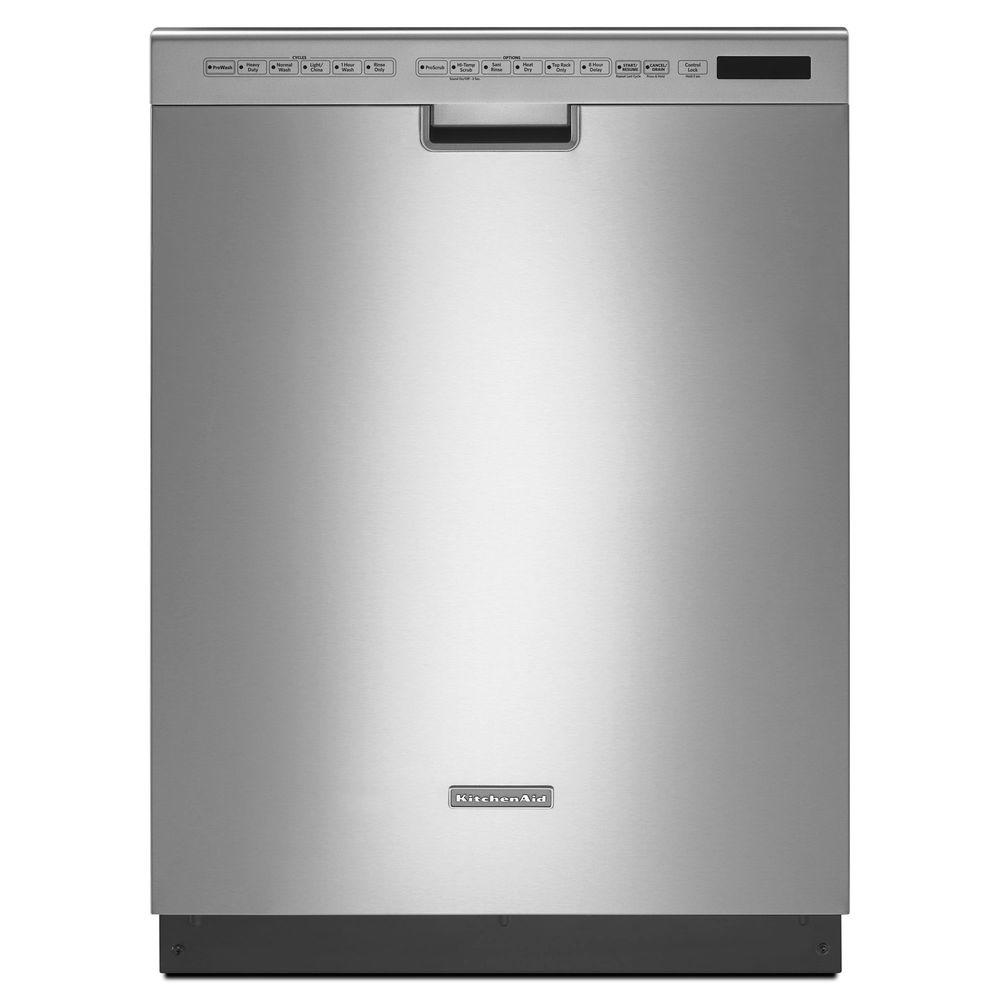 KitchenAid Front Control Dishwasher in Stainless Steel with Stainless Steel Tub, 7 Options, 40 dBA
