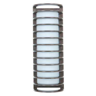 Bermuda Large 1-Light Satin LED Outdoor Wall Mount Sconce