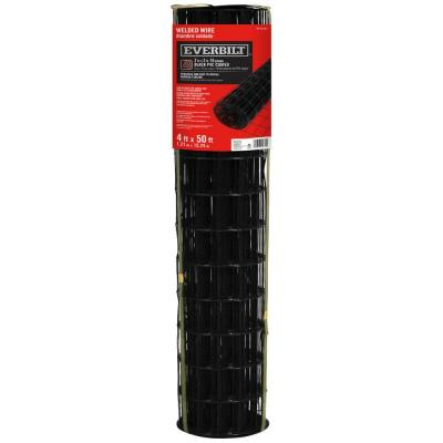 4 ft. x 50 ft. Black PVC Coated Welded Wire Fence