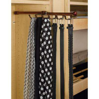 2 in. H x 3.25 in. W x 13.875 in. D Oil Rubbed Bronze Pull-Out Belt Scarf Organizer