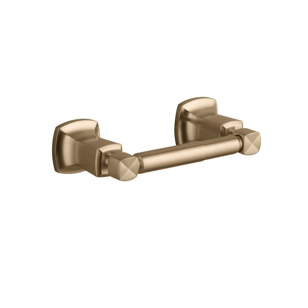 KOHLER Margaux Wall-Mount Horizontal Double Post Toilet Paper Holder in Vibrant Brushed Bronze