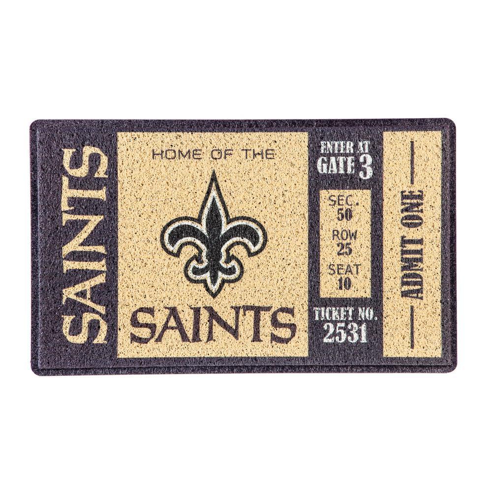 New Orleans Saints 30 in. x 18 in. Vinyl Indoor/Outdoor Turf Floor Mat