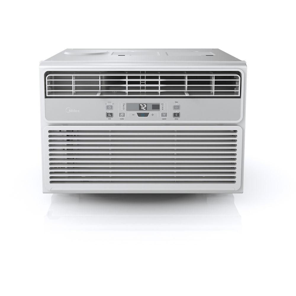 Midea 10,000 BTU 115-Volt Window Air Conditioner with Remote in White