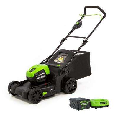 PRO 17 in. 60-Volt Lithium-ion Cordless Battery Walk Behind Mower with 4.0 Ah Battery and Charger Included