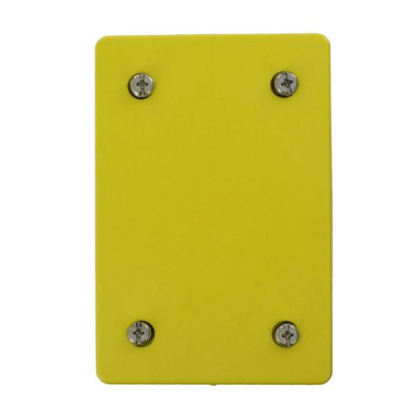 Wetguard Outlet Blank Plate and Gasket, Yellow