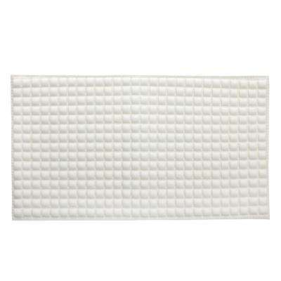 Pillow Top Plus Safety 15 in. x 27 in. Bath Mat in Cream
