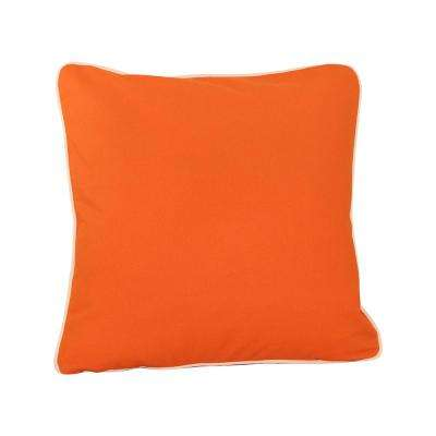 20 in. x 20 in. Orange  Standard Pillow with Green Eco Friendly Insert