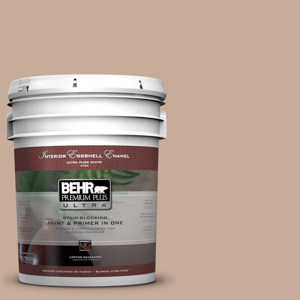 BEHR Premium Plus Ultra 5-gal. #ECC-57-1 California Stucco Eggshell Enamel Interior Paint
