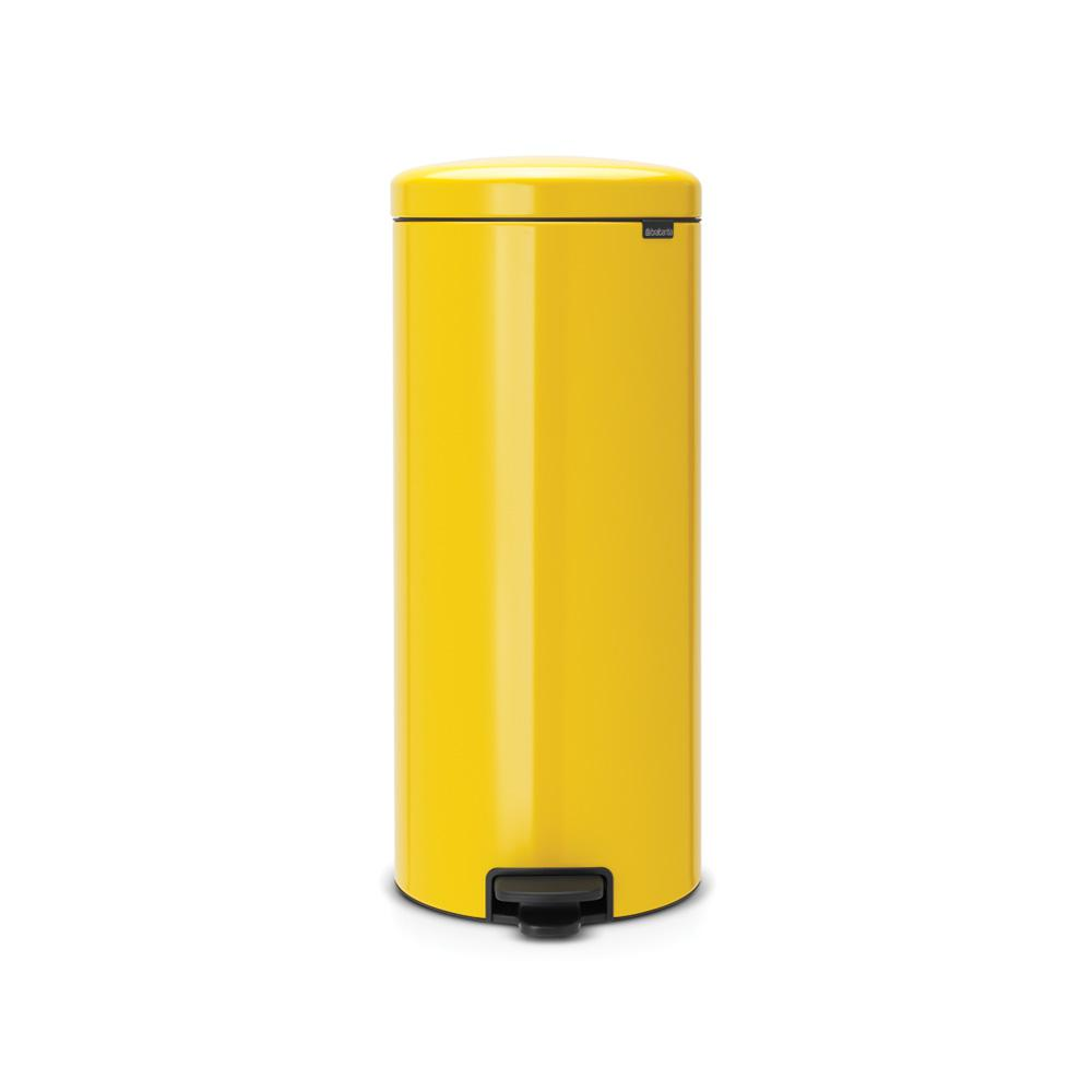 8 Gal. Daisy Yellow Steel Step-On Trash Can
