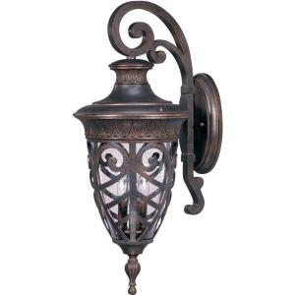 Glomar 3-Light Dark Plum Bronze Incandescent Outdoor Wall Light by Glomar