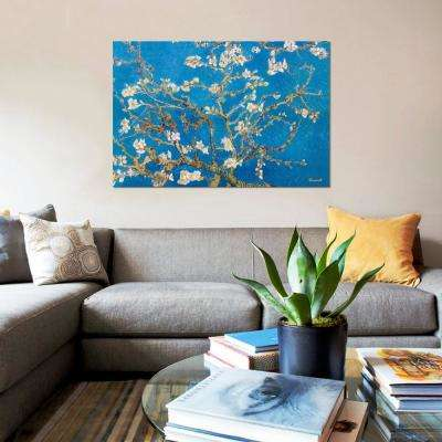 """18 in. x 12 in. """"Almond Blossom"""" by Vincent van Gogh Printed Canvas Wall Art"""