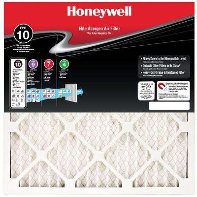 16 in. x 25 in. x 1 in. Elite Allergen Pleated FPR 10 Replacement Air Filter