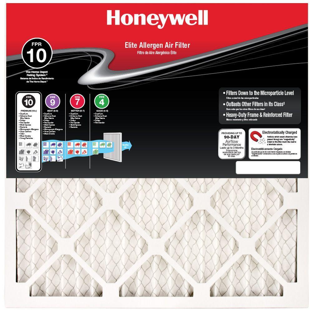 Honeywell 12-1/2 in. x 16-1/2 in. x 1 in. Elite Allergen Pleated FPR 10 Air Filter