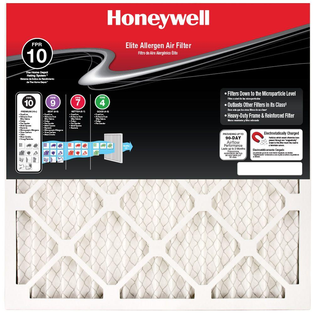 Honeywell 13-3/8 in. x 21-1/2 in. x 1 in. Elite Allergen Pleated FPR 10 Air Filter